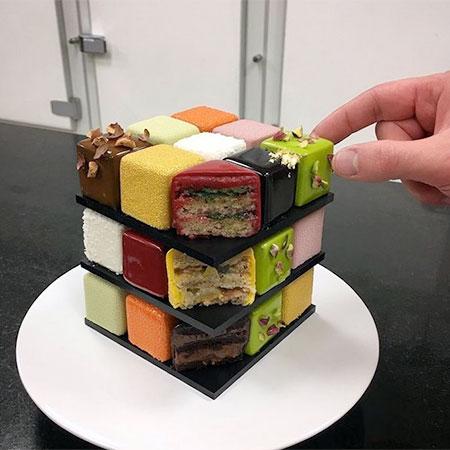 Cedric Grolet Rubiks Cube Cake