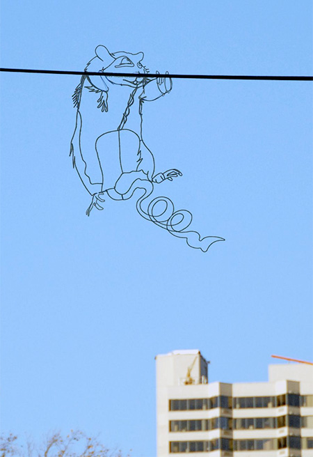 Hanging Wire Street Art