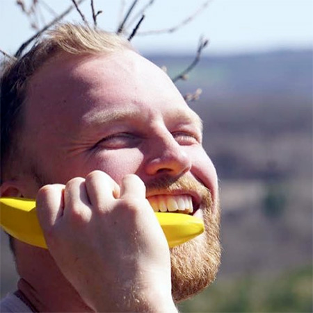 Banana Shaped Mobile Phone