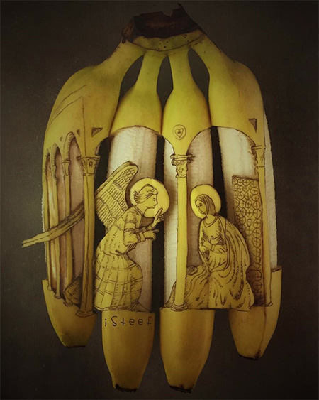 Instagram Banana Carving