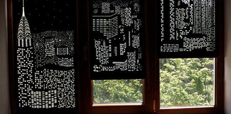 Night City Window Blinds
