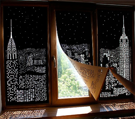 Night City Window Curtains
