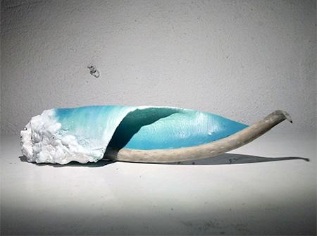 Driftwood Waves Sculptures