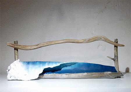 Driftwood Wave Sculptures