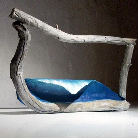 Wooden Waves Sculptures