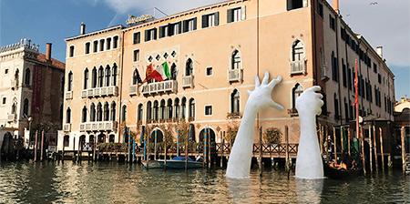 Giant Hands in Venice