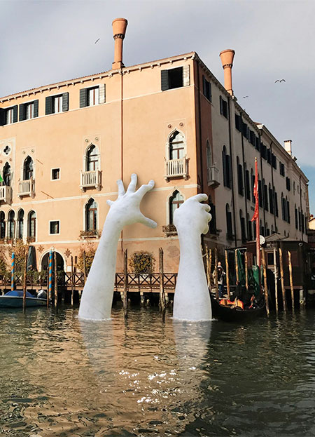 Giant Hands In Venice