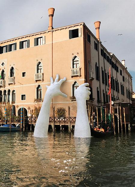 Hands in Venice