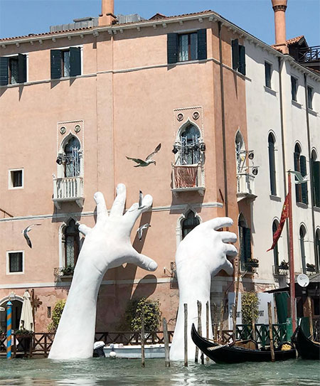 Giant Arms in Venice