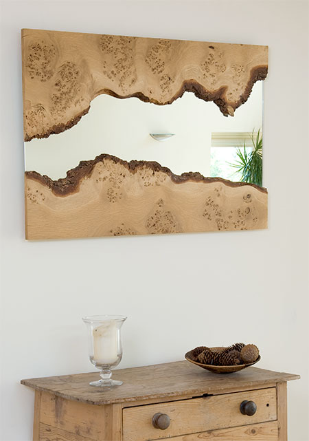 Wooden River Mirror
