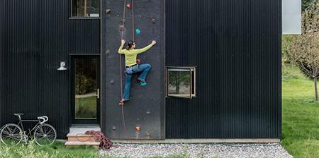 Climbing Wall House