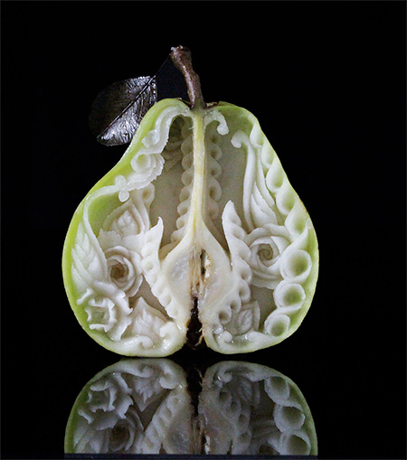 Pear Carving
