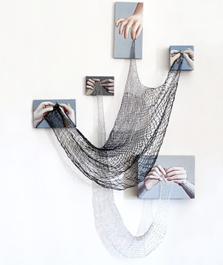 Rania Hassan Knitted Paintings