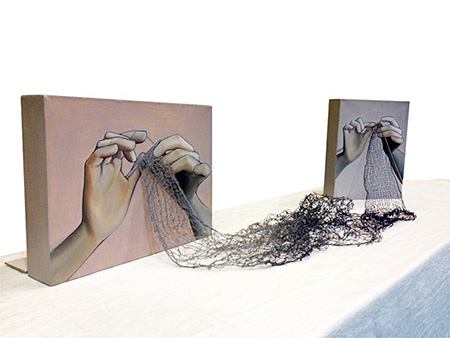 Rania Hassan Knitting Paintings