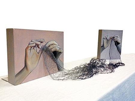 Rania Hassan Knitting Paintings