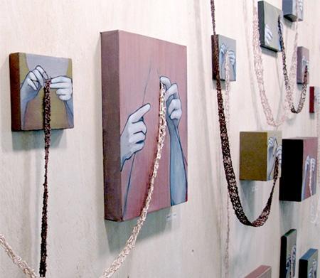 Rania Hassan Knit Paintings