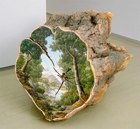 Paintings on Tree Logs