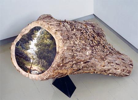 Paintings on Logs