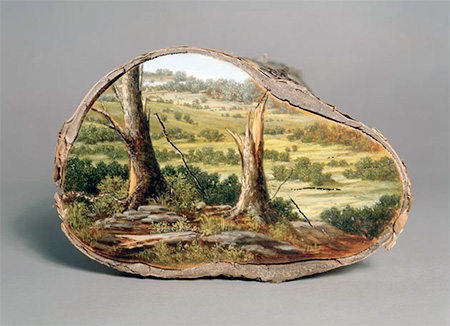 Painting on Logs
