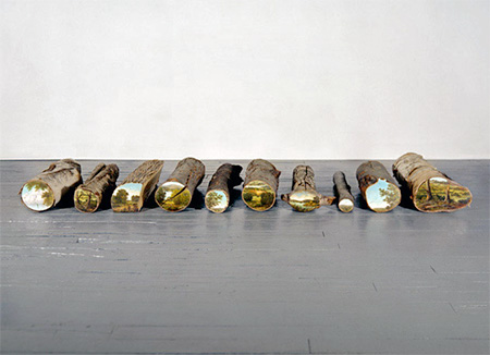 Alison Moritsugu Log Paintings