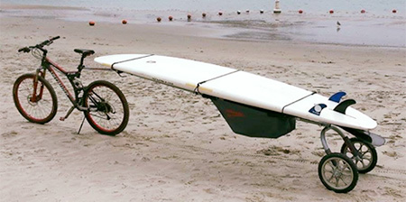 Bicycle Surfboard Trailer