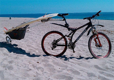 Bicycle Surfboard Carrier