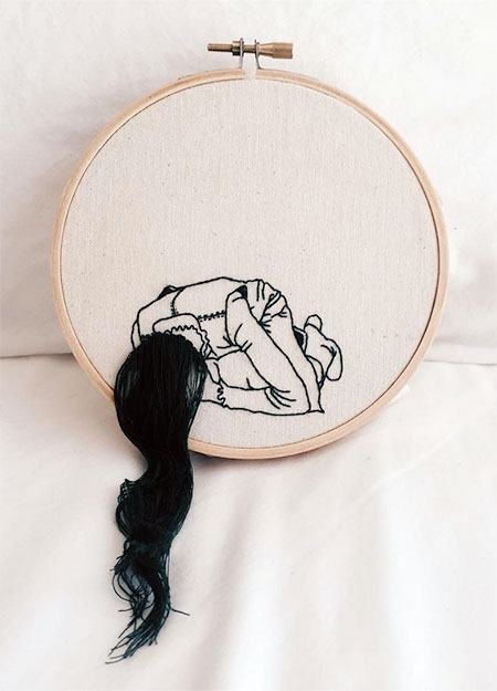 Sheena Liam Embroidered Hairstyle
