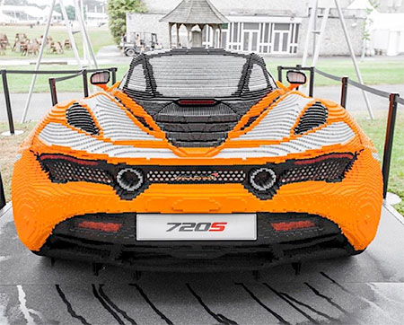 McLaren Car Made of LEGO