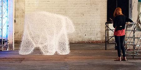 Polar Bear made of Zip Ties