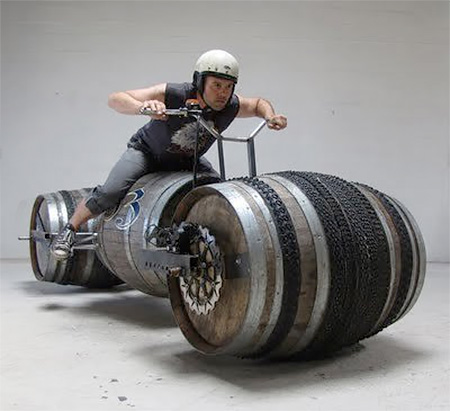 Bicycle Made of Barrels