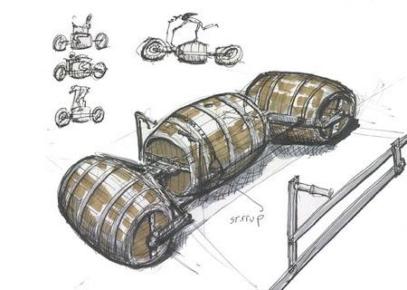 Bike Made of Barrels
