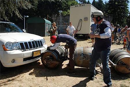Charley Wheelock Barrel Bike