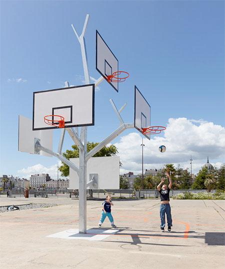 Basketball Tree Sculpture