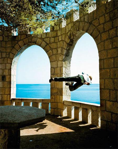 Kerry Skarbakka Falling Self-Portraits