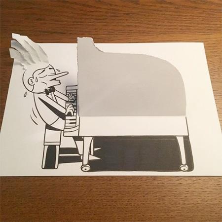 HuskMitNavn Folded Paper Art
