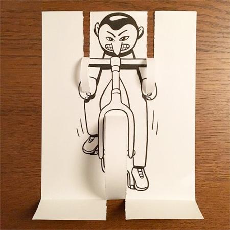 3D Paper Art by HuskMitNavn