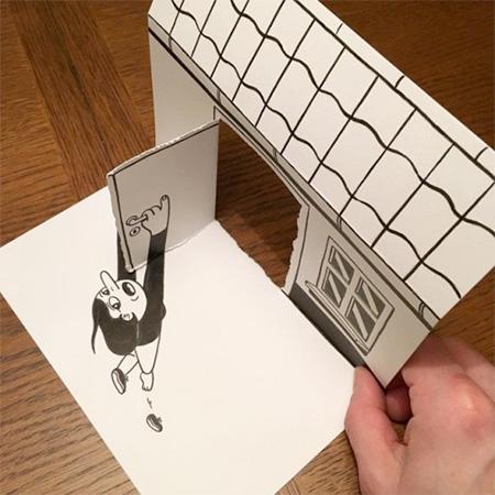 Denmark Paper Art