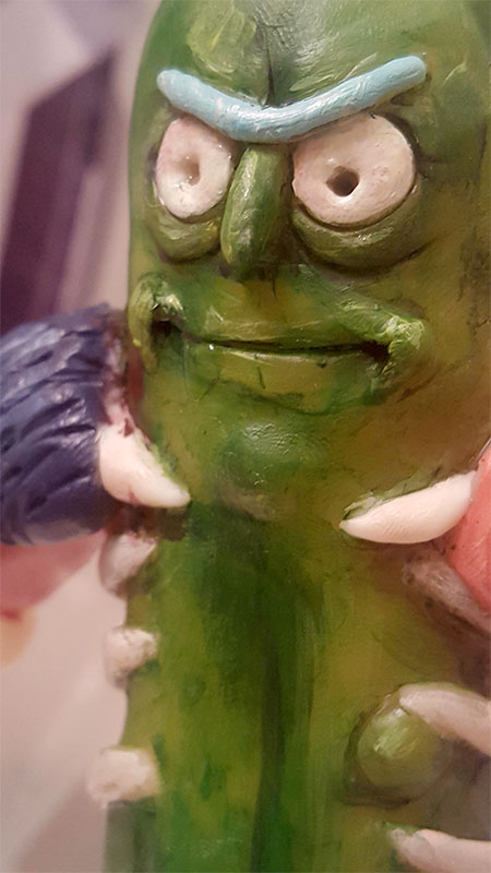 Pickle Rick Sculpture