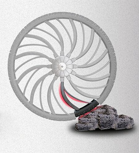 Shock Absorbing Bike Tire