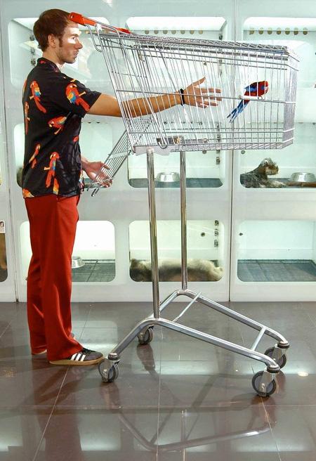 Sebastian Errazuriz Shopping Cart Bird Cage