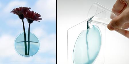Window Sticker Vase