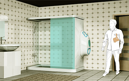 Washing Machine Shower Cabinet