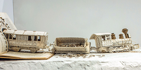 3D Book Sculptures