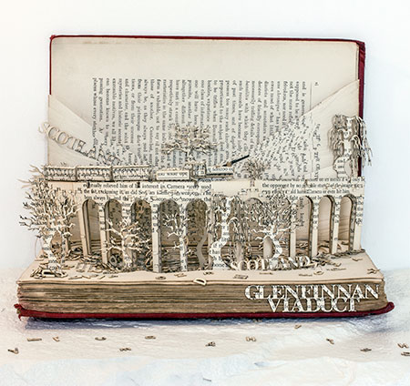 Thomas Wightman 3D Book Sculptures