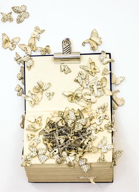Thomas Wightman Book Sculpture