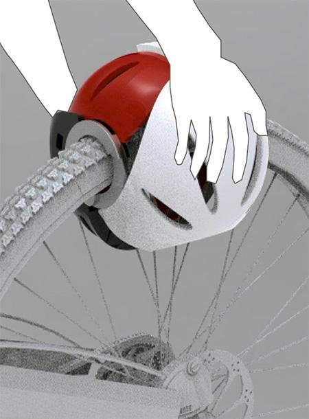 Helmet Bicycle Lock