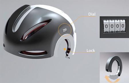 Helmet Bike Lock