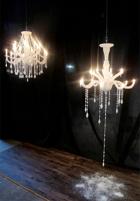 Chandelier Made of Candles