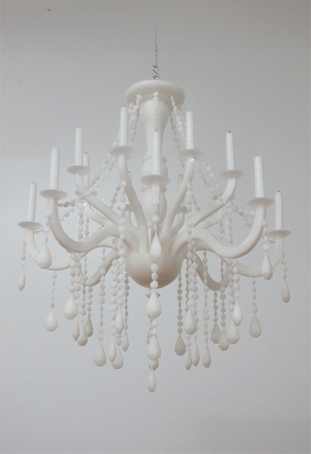 Chandelier Made of Wax