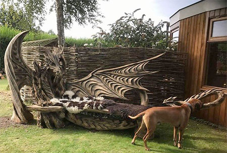 Dragon Shaped Bench